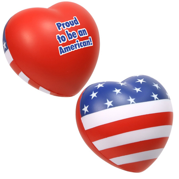 Patriotic Valentine Heart Stress Ball