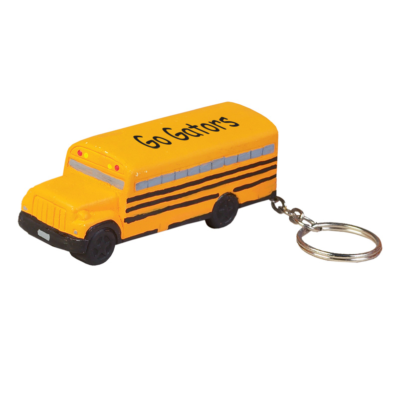 School Bus Stress Reliever Key Chain